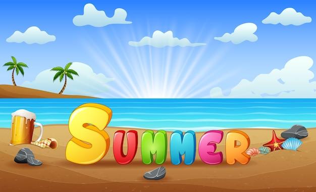 Ilustração da praia de verão