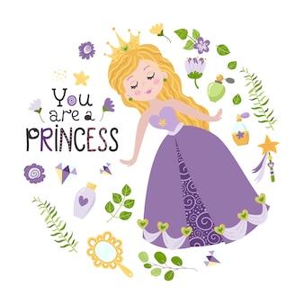 Ilustração da princesa