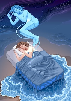 Ilustração da representação da fantasia do estado de sonho