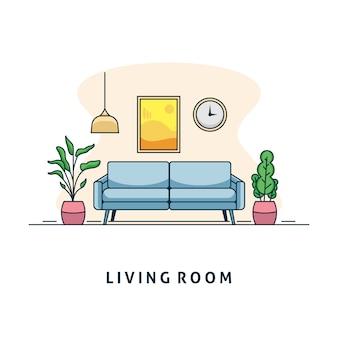 Ilustração da sala de estar