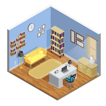 Ilustração da sala de estudo