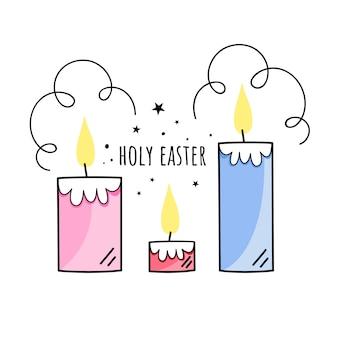 Ilustração da santa páscoa
