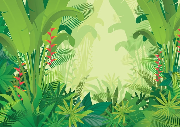 Ilustração da selva tropical