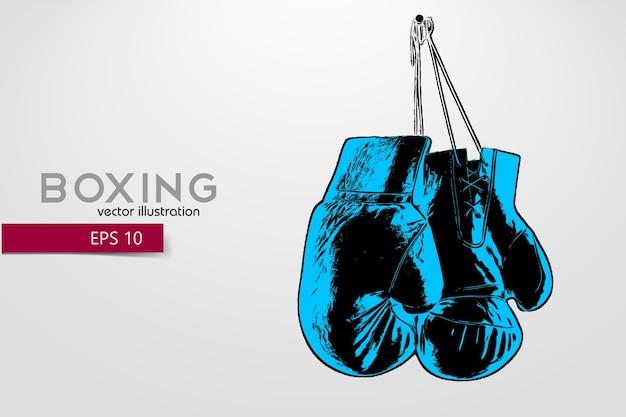 Ilustração da silhueta de luvas de boxe