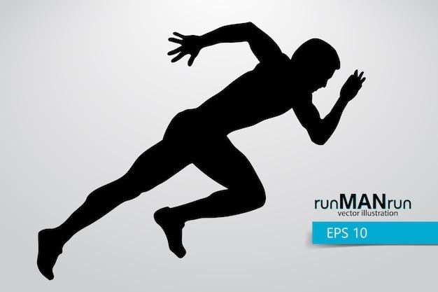 Ilustração da silhueta de um homem correndo
