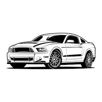 Ilustração da silhueta do carro