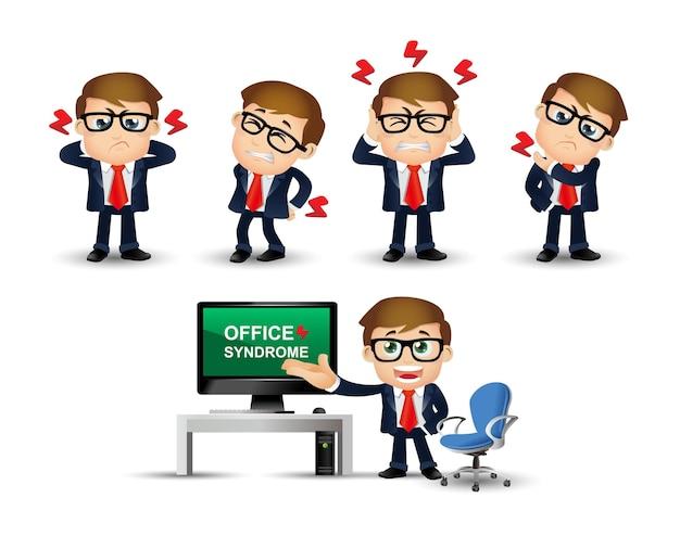 Ilustração da síndrome do escritório