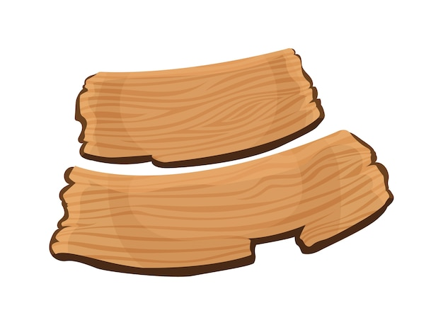 Ilustração da tabuleta de madeira