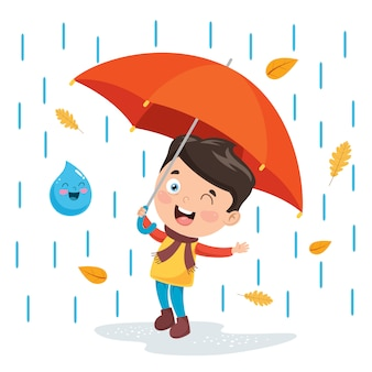 Ilustração da temporada de outono