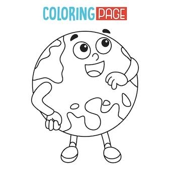 Ilustração da terra página para colorir