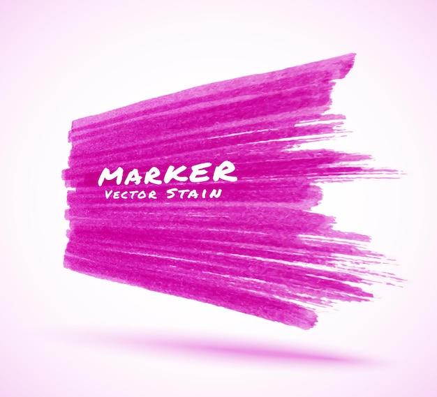 Ilustração da textura da mancha do traço com marcador violeta
