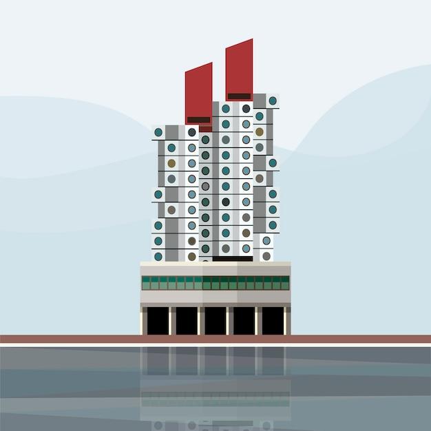 Ilustração da torre da cápsula nakagin