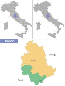 Ilustração da umbria é uma região no centro da itália