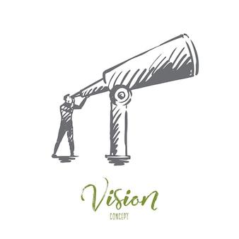 Ilustração da visão desenhada à mão