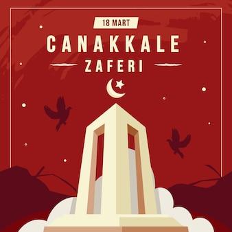 Ilustração da vitória da canakkale