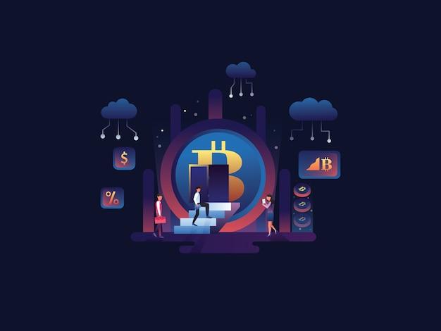 Ilustração da web de criptografia