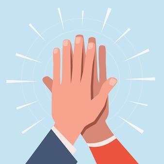 Ilustração das cinco mãos