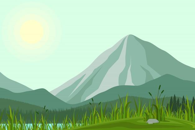Ilustração das montanhas