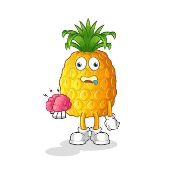 Ilustração de abacaxi de desenho animado