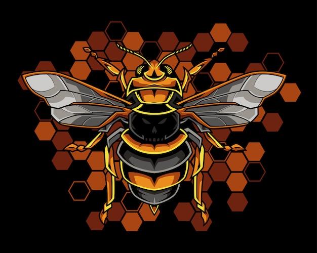 Ilustração de abelha de mel