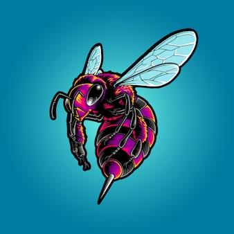 Ilustração de abelha electro