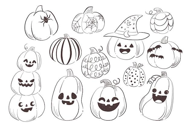 Ilustração de abóbora de halloween desenhada à mão