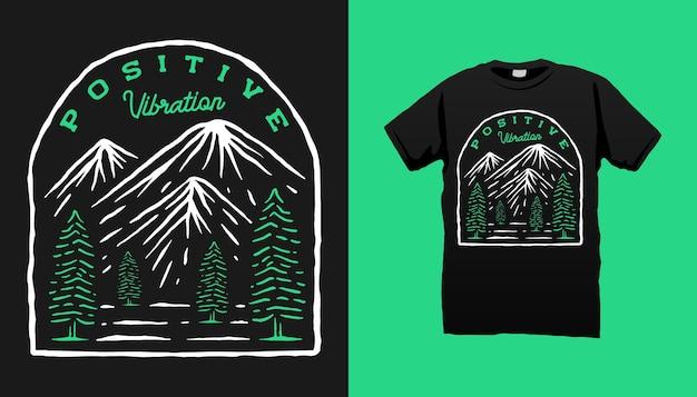 Ilustração de acampamento na montanha