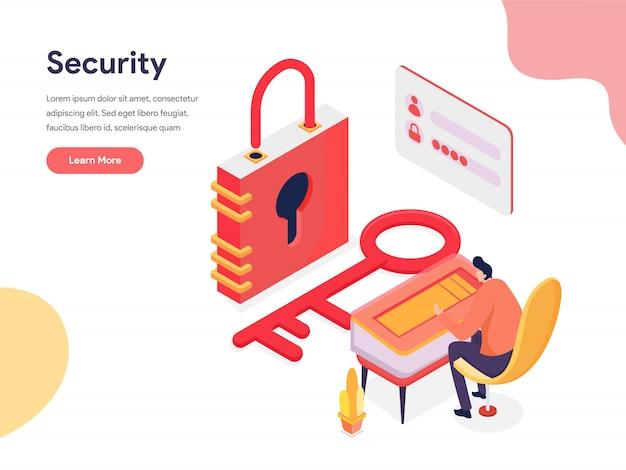 Ilustração de acesso e segurança