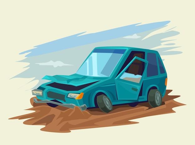 Ilustração de acidente de carro