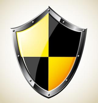 Ilustração de aço escudo brilhante