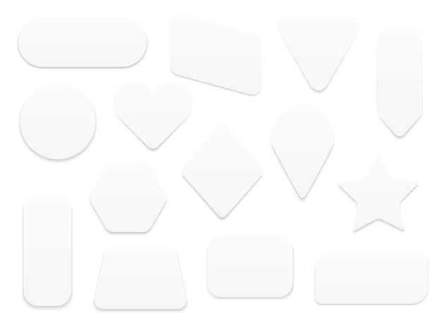 Ilustração de adesivos brancos