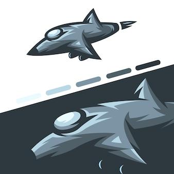 Ilustração de aeronave de caça