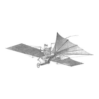 Ilustração de aeronaves vintage