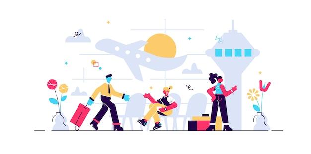 Ilustração de aeroporto