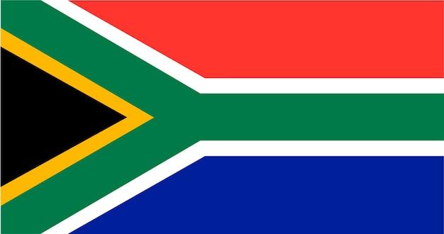 Ilustração, de, áfrica sul, bandeira