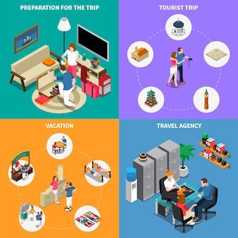 Ilustração de agência de viagens conceito