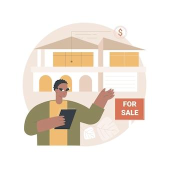 Ilustração de agente imobiliário