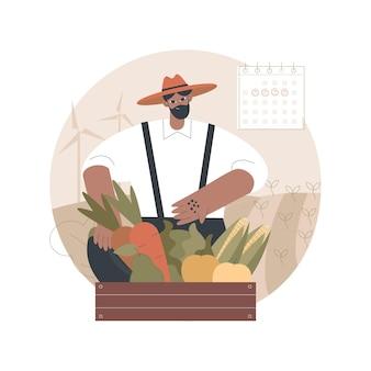 Ilustração de agricultura biodinâmica