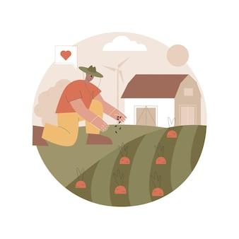 Ilustração de agricultura natural