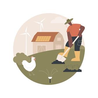Ilustração de agricultura sustentável