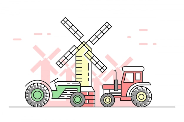 Ilustração de agricultura