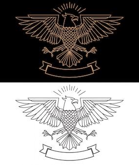 Ilustração de águia no estilo de linha