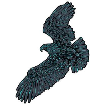 Ilustração de águia voadora