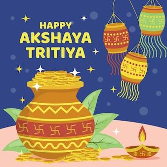 Ilustração de akshaya tritiya plana