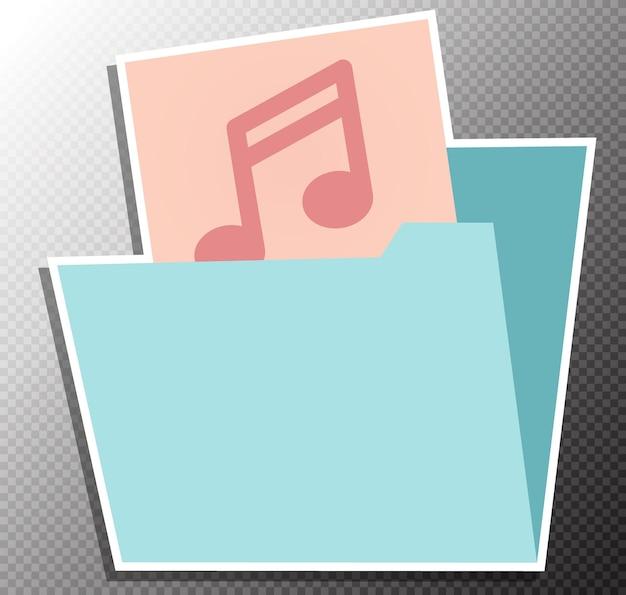 Ilustração de álbum de música em estilo simples