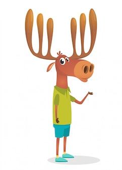 Ilustração de alce engraçado dos desenhos animados