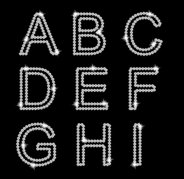 Ilustração de alfabeto de diamante