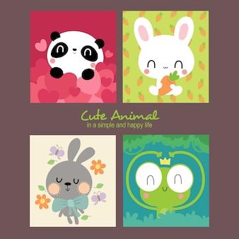 Ilustração de alice cute animals