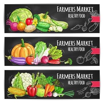 Ilustração de alimentos saudáveis de vegetais