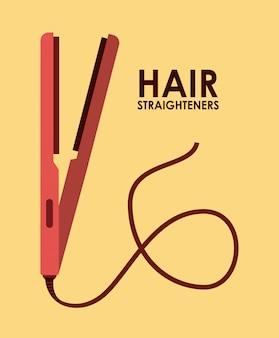 Ilustração de alisadores de cabelo